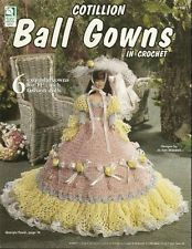 Cotillion Ball Gowns, Fashion Doll Clothes Crochet Pattern HWB 101156 RARE