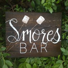 Smores bar Smores sign Smores wedding favors Smores tags Camping gift Camping decor Campfire Sign Summer Decor Pallet signs Rustic wedding
