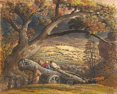 "Samuel Palmer, ""The Timber Wain"" (c. 1833"