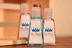 The Prince is on His Way Sanitizer Labels, Perfect for Baby Showers, Boy, Sanitizers, Sprinkle, Blue, Gold by CaffeinatedSquirrel on Etsy https://www.etsy.com/listing/217001133/the-prince-is-on-his-way-sanitizer