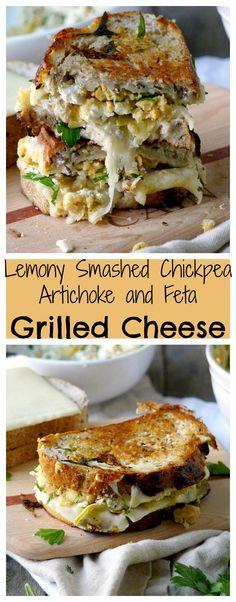 This grilled cheese masterpiece is filled with enough creamy, tart, salty and cheesy goodness to make your head spin!