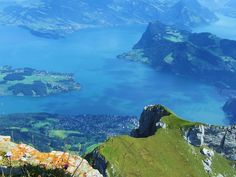 View from Mt. Pilatus over Lake of Lucerne. Photo credit: Sonja Holverson