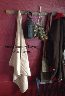 Primitives ~ Colonial ~ Early American ~ Handcrafted Stained Early Towels ~ Table Squares ~ Medium