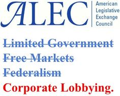 "ALEC has ""No Comment"" on Free Markets Contradiction"