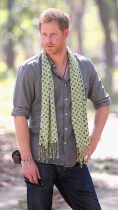 Prince Harry at bardia national park. Oh I really like this photo!!!