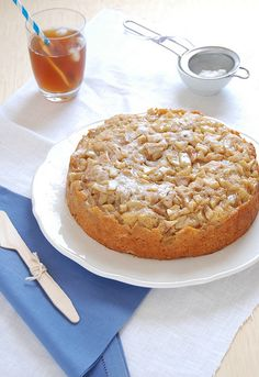 Pear, apple, brown sugar and maple syrup cake
