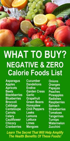 Negative & Zero Calorie Foods List. Our incredible alkaline rich, antioxidant loaded, weight loss products help your body increase energy, detox, cleanse, burn fat and lose weight more efficiently without changing your diet, increasing your exercise, or a (Increase Muscle Burn Calories)