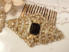 Glamorous Black and Gold Wedding Inspiration | OneWed