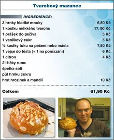 Fashion and Lifestyle Czech Recipes, Ethnic Recipes, Sushi, Smoothies, Food And Drink, Menu, Cooking Recipes, Yummy Food, Homemade