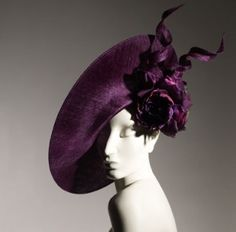 Hat by Treacy - gorgeous color, perfect proportions, and edgy all the same