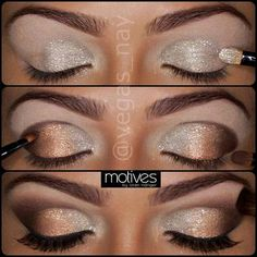 The shimmery eye shadow is perfect for prom pictures.