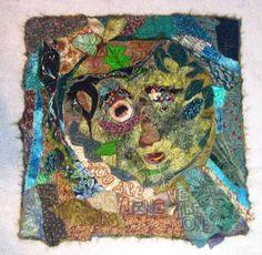 The Green Man...an art quilt by Jeanne McBrayer