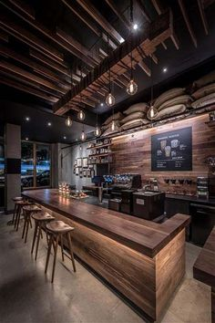 Learn how Starbucks designed its space with SketchUp. Source by SketchUpTrimble bar Bar Interior Design, Restaurant Interior Design, Cafe Design, Sport Bar Design, Design Design, Basement Bar Designs, Home Bar Designs, Rustic Basement Bar, Refacing Kitchen Cabinets