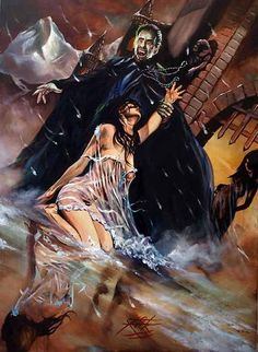 Classic Hammer Films Art : Dracula Prince Of Darkness 1966 by Rick Melton