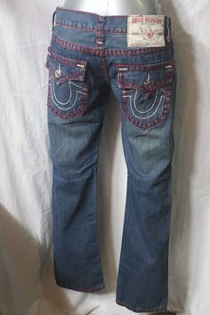 d539b0f47 VINTAGE MENS TRUE RELIGION jeans STRAIGHT PIT w34 L33 made in USA f-189…