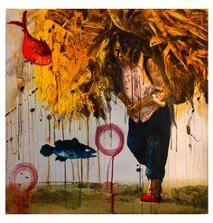 Hung Liu Hung Liu, Poker Online, Light Reflection, Mural Painting, Interior Paint, Contemporary Artists, Printmaking, Paint Colors, Fantasy Art