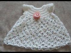 Lembrancinha Vestido de Bebê em Crochê - YouTube                                                                                                                                                     Mais