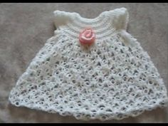 How to make a Crochet Baby Dress - Solomon's Knot Crochet Geek - YouTube