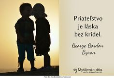 Priateľstvo je láska bez krídel.George Gordon Byron