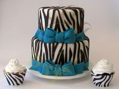 Caketutes Cake Designer: Zebra Cake Cupcake - Bolo Zebra