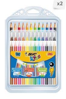Lot de 64 crayons de couleurs <BR> Multicolore
