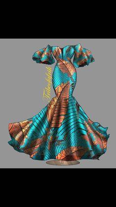New Design: The Elegant Tonye African Print Dress.