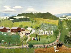 Grandma Moses Paintings for Sale | Grandma Moses Goes to the Big City - Grandma Moses - WikiPaintings.org