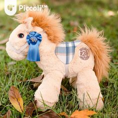 Piccoli Horse - Limited Blue Plaid for Early Supporters Piccoli Horses are plush toys loved by kids of all ages. It serves as a tangible learning facilitator for your child when paired with our Piccoli apps!  #toy #children #kids #cuddly #cute #plushtoy #horse #piccoli #piccolihorses