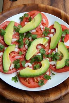 Simple avocado and tomato salad – Quick Salads – Laylita's Recipes- adding Oaxacan cheese to this. So Healthy too!