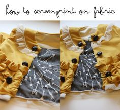 see kate sew: how to screenprint on fabric