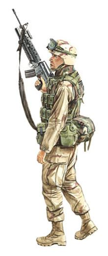 Soldado, US Marine Corps, Irak, 2003.                                                                                                                                                                                 Más