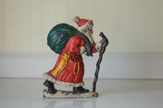 Vintage Cast Iron Christmas Santa Claus Doorstop by PageScrappers, $50.00