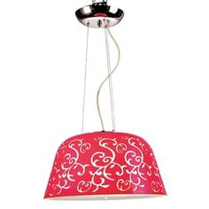 Large Ciro Pendant in Red