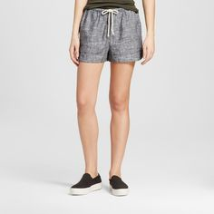 Women's Baja Linen Short - Mossimo Supply Co. Black Xxl