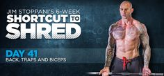 Bodybuilding.com - Jim Stoppani's Shortcut To Shred: Day 41 - Back, Traps, Biceps