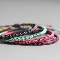 a56be272e4 Tibetan Buddhist Handmade Knots Lucky Rope Bracelets