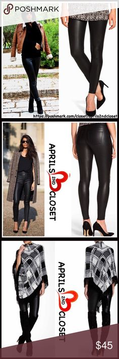 """FAUX LEATHER LEGGINGS 💟NEW WITH TAGS💟  RETAIL PRICE: $60   FAUX LEATHER LEGGINGS   * 2 functional back pockets   * Comfy & lightweight stretch-to-fit style   * Approx 29"""" inseam, 10"""" rise for size M   * Banded waist   * Slim tailoring   ***Runs small, order one size up   Manufacturer's sizing: S= 4-6, L = 12-14, XL = 16   Material: 88% polyester, 12% spandex  Color: Black Item# #   🚫No Trades🚫 ✅ Offers Considered*✅  *Please use the blue 'offer' button to submit an offer Boutique Pants…"""