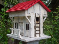 Old Inn and Tavern Country Birdhouse- Handmade Country, Folk Art, and Primitive Birdhouses