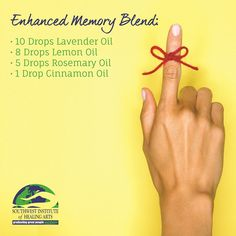 Gently inhale this invigorating #essentialoils blend while studying, and right before a test to retain your #memory.