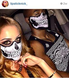 Half Skull Face, Halloween Face Makeup, Swag