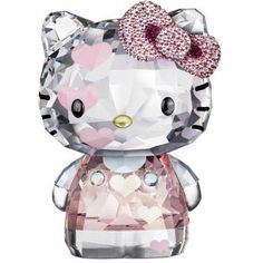 New Hello Kitty x SWAROVSKI Collaboration Lovely Kitty Hearts Pink Limited Editi | eBay