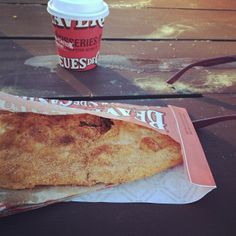 A BeaverTails pastry and hot chocolate - the keep-you-warm-combo :)  Instagram photo by @alyssabrookk (Alyssa Brook)