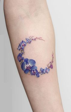 orchid moon tattoo © Deborach Genchi