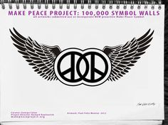 MAKE PEACE PROJECT: 4000 NYC street artists use new make peace symbol, all other global artist world wide. See facebook page: