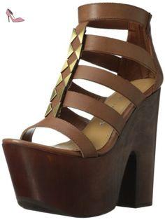 fdec926b63 Chinese Laundry Ring Around Femmes US 8 Brun Sandales Compensés: Amazon.fr:  Chaussures et Sacs