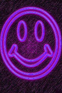 Violet neon smiley!