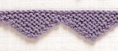 Knit Trim: Points