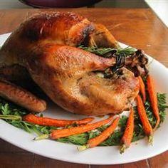 Christmas roast turkey with gravy