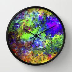 Aquarela_Textura digital  Wall Clock by Amanda Araujo - $30.00