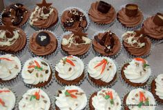 Chocolate & carrot cupcakes available from www.lydiasbakehouse.co.uk